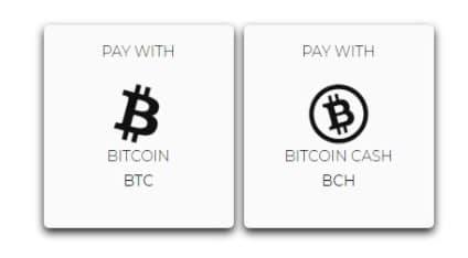 Select bitcoin or bitcoin cash