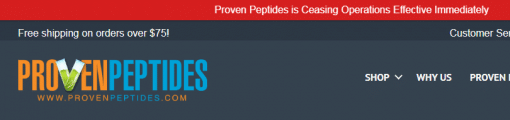 Proven Peptides FB message